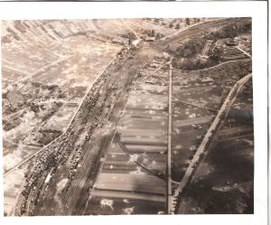 War-damaged Marshalling Yard (Railyard) near Koblenz-Lutzel, Germany Note all of the craters!  At the time, this was precision bombing. Photo credit: David C. Foster