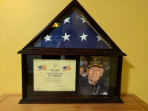 The flag flown over the Capitol in honor of Dad's 90th birthday.